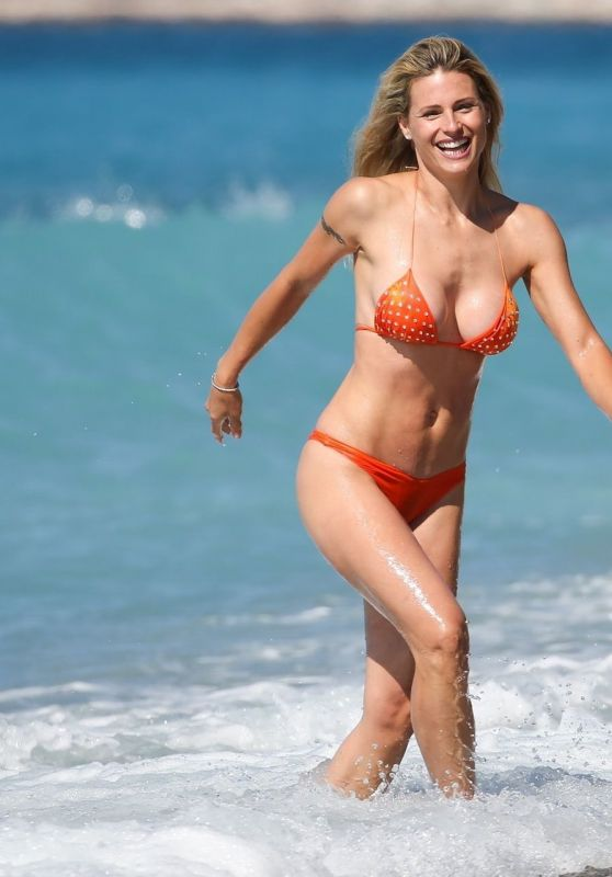 Michelle Hunziker in a Bikini on the Beach in Varigotti 06/24/2020