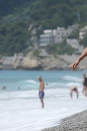 Michelle Hunziker in Bikini - Beach in Varigotti 06/06/2020