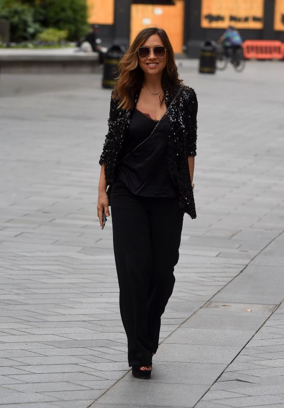 Myleene Klass -Arriving at Global Radio Studios in London 06/19/2020