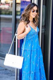 Myleene Klass in a Blue Maxi-Dress 06/01/2020