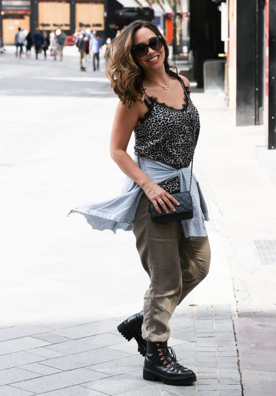 Myleene Klass in a Leopard Print Cami - London 06/20/2020