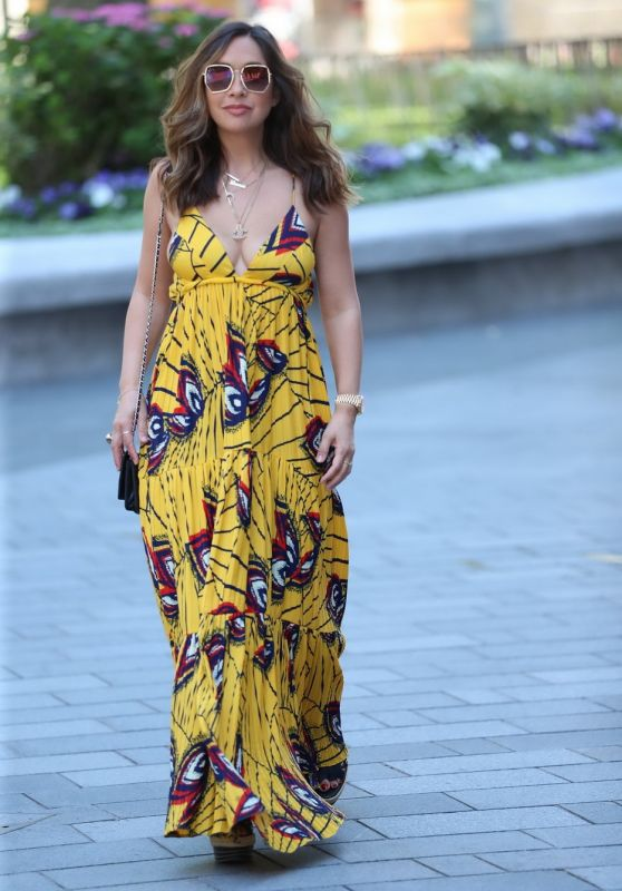Myleene Klass in Plunging Maxi Dress 06/25/2020
