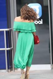 Myleene Klass in Strapless Green Dress - London 06/13/2020
