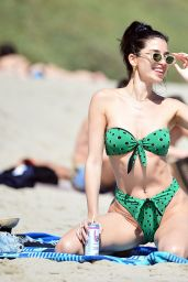 Nicole Williams in Green Devon Windsor Bikini in Malibu 06/15/2020