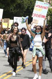 Nikita Dragun - Protesting in West Hollywood 06/02/2020