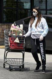 Olivia Munn in Tie-Dye Top - Grocery Shopping in Los Feliz 06/24/2020