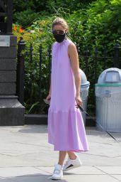 Olivia Palermo in a Summer Dress in Brooklyn 06/25/2020