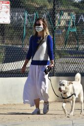 Olivia Wilde - Walking Her Dog in LA 06/07/2020