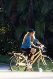 Paulina Rubio Riding a Bike - Miami 06/15/2020