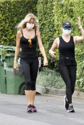 Reese Witherspoon With Her Yoga Teacher in Brentwood 06/23/2020