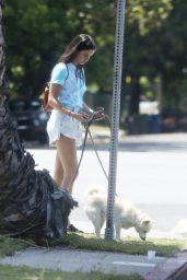 Sara Sampaio in Colorful T-shirt and Light Blue Daisy Dukes 06/04/2020