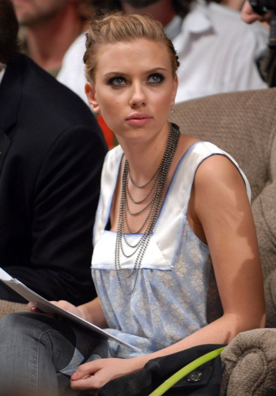 Scarlett Johansson - Olympus Fashion Week Spring 2007 Imitation of Christ Front Row in New York (2006)