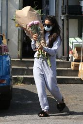 Shay Mitchell Buys Multiple Flower Bouquets in West Hollywood 06/17/2020
