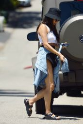 Shay Mitchell in Crop Top and Shorts - Los Angeles 06/09/2020