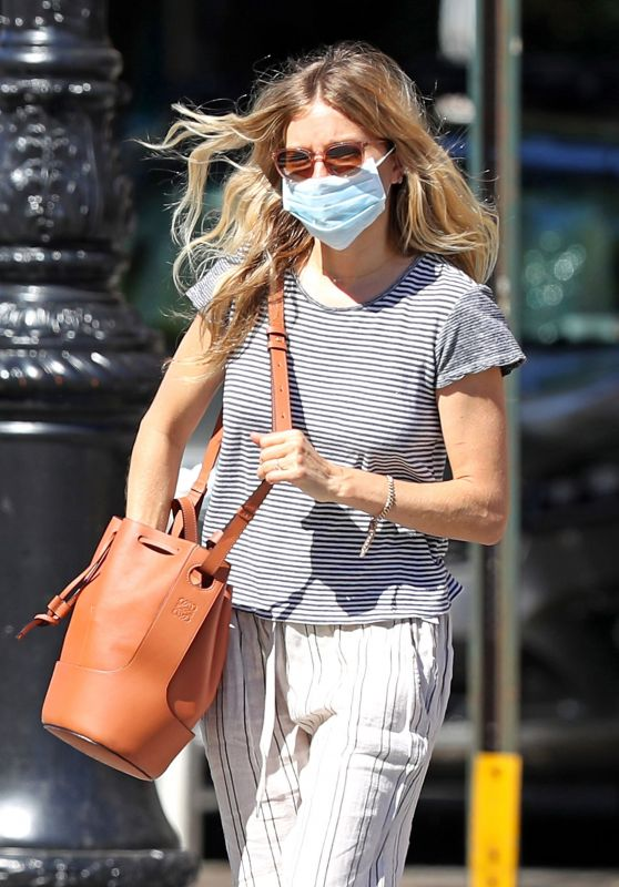 Sienna Miller in Casual Outfit - NYC  06/12/2020