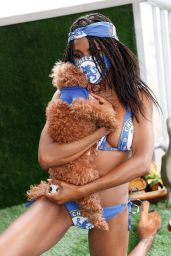 Sinitta in a Chelsea FC Themed Trikini 06/16/2020