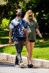 Sophie Turner and Joe Jonas - Out For a Walk in LA 06/24/2020