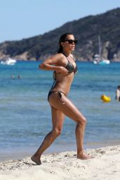 Sylvie Meis Hot in Bikini - Beach in Saint Tropez 06/22/2020
