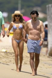 Sylvie Meis in a Bikini at Club 55 in Saint Tropez 06/21/2020