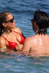 Sylvie Meis in a Red Bikini 06/23/2020