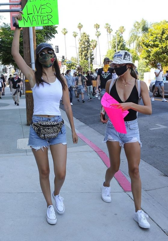 Victoria Justice and Madison Reed - Join a Protest in Los Angeles 06/03/2020