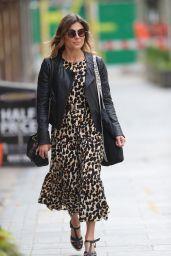 Zoe Hardman in Animal Print Dress - London 06/07/2020