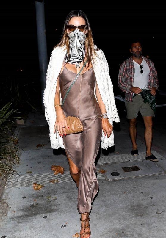 Alessandra Ambrosio Night Out Style - Nobu in Malibu 07/05/2020