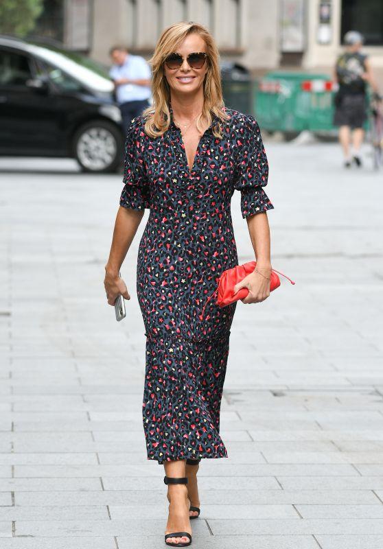 Amanda Holden in a Charcoal Leopard Print Maxi Dress 07/03/2020