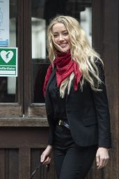 Amber Heard Outfit - Royal Courts of Justice in London 07/16/2020