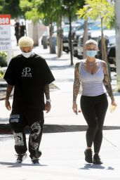 Amber Rose and Boyfriend Alexander Edwards - West Hollywood 07/13/2020