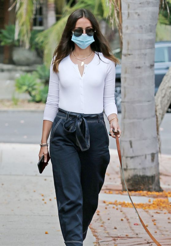 Ana De Armas - Walking Her Dog in Los Angeles 07/22/2020