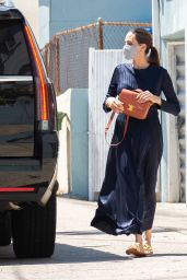 Angelina Jolie - Out on Wacko and Blue Rooster Art Supplies in Los Angeles 07/11/2020