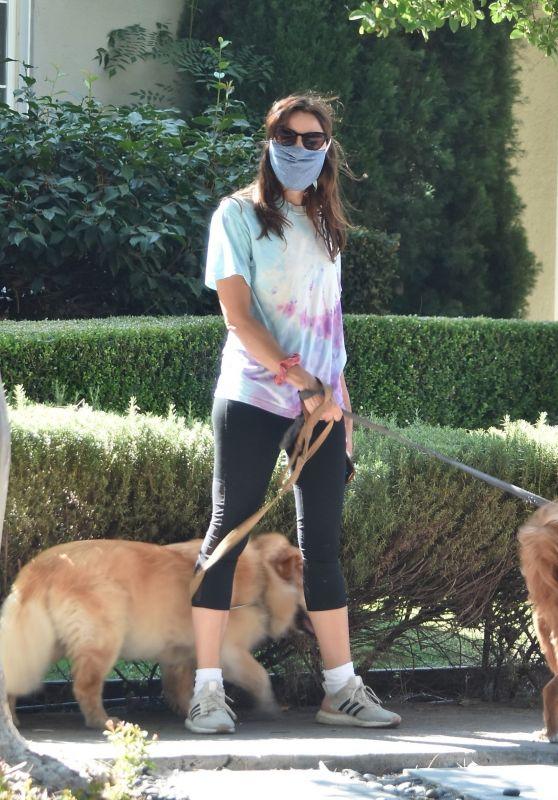 Aubrey Plaza - Takes Her Dogs on a Walk in Los Feliz 07/22/2020