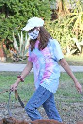 Aubrey Plaza - Walking Her Dogs in LA 07/13/2020