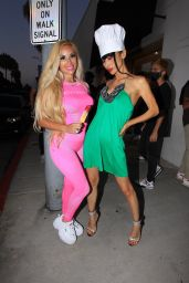 Bai Ling With Marcela Iglesias in Beverly Hills 07/25/2020