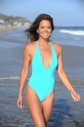 Brooke Burke in a Swimsuit on the Beach in Malibu 07/23/2020