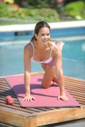 Brooke Burke - Photoshoot for Brooke Burke Body App in the Backyard of Her House in Malibu 07/14/2020