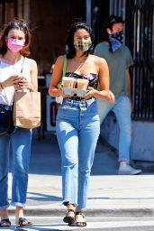 Camila Mendes Street Style - Getting Coffee in LA 07/20/2020