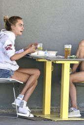 Cara Delevingne and Margaret Qualley - Out in Studio City 07/17/2020