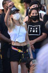 Cara Delevingne - Protest Rally in Los Angeles 07/15/2020