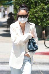 Cara Santana at Urth Caffe in West Hollywood 06/30/2020