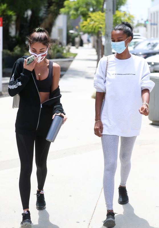 Chantel Jeffries and Jasmine Tookes - Los Angeles 07/01/2020