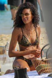 Cindy Bruna in a Bikini - Beach Club 55 in Saint-Tropez 07/01/2020
