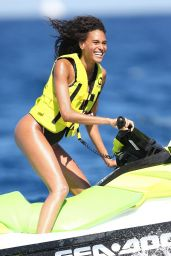 Cindy Bruna in a Swimsuit - Saint-Tropez 07/04/2020