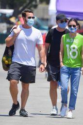 Courteney Cox in a Green Jersey With Last Name of Boyfriend Johnny McDaid Written On It - Malibu 07/05/2020