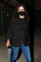 Courteney Cox - Out at Dinner in Santa Monica 07/15/2020