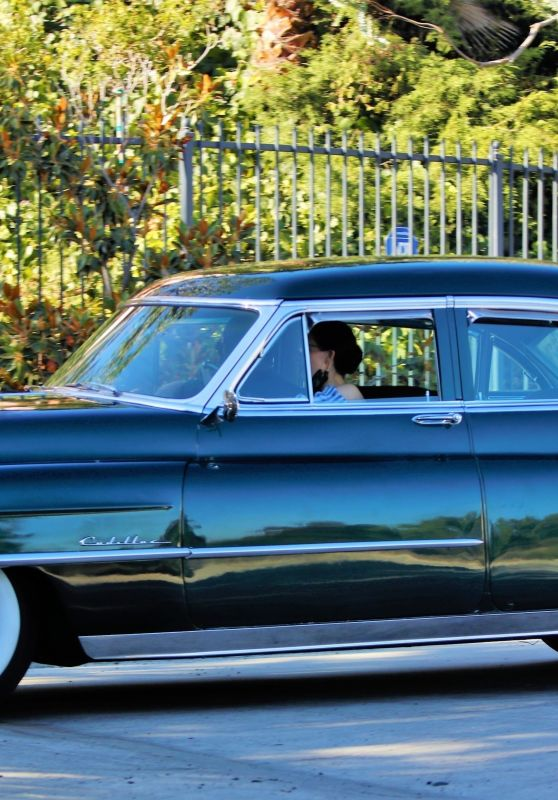 Dita Von Teese - Takes Her Clean Classic Chevy for a Cruise in LA 07/16/2020