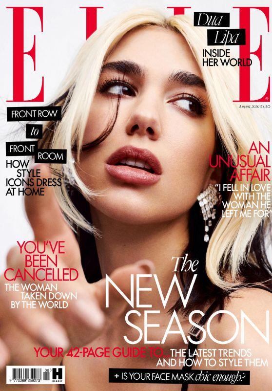 Dua Lipa - ELLE Magazine UK August 2020 Issue
