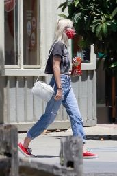 Dylan Meyer at a Gas Station in Los Angeles 06/30/2020
