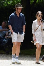 Emilia Clarke With a Mystery Man in London 07/15/2020
